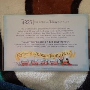 D23 65 Years of Disney Parks Postcards